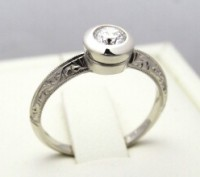Zásnubní prsten s diamantem 006