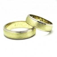 Snubní prsteny kombinované 006